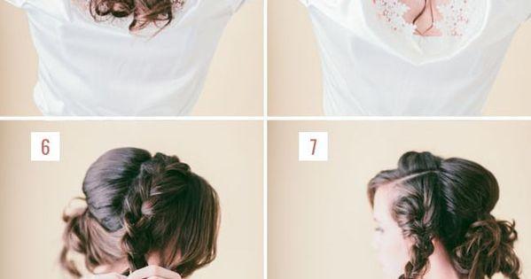 Diy Loose Braided Updo Tutorial Weddings Prom Step By