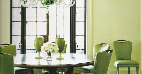 Pale green dining
