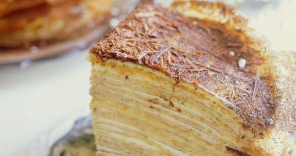 30 Layered Crepe Cake with Tiramisu Pastry Cream It is best of