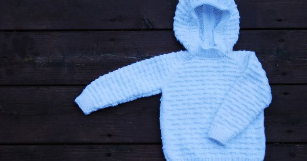 Back Zipper Hooded Baby Sweater Pattern By Mary Maxim