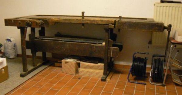 antike hobelbank werkbank schraubstock schreiner holz alt. Black Bedroom Furniture Sets. Home Design Ideas