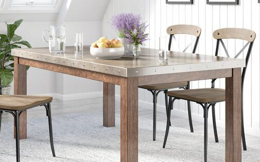Stainless Steel Top Dining Table In 2020 Dining Table Steel