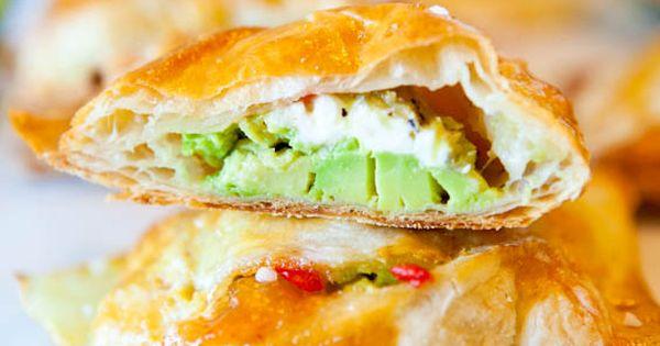 Avocado, Cream Cheese & Salsa Puff Pastries - Appetizer Recipe