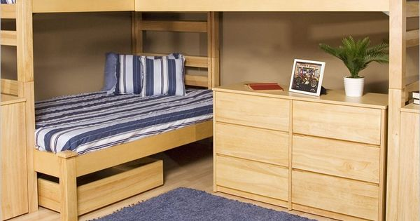 Bunk Bed Plans With Corner Design For Innovative And