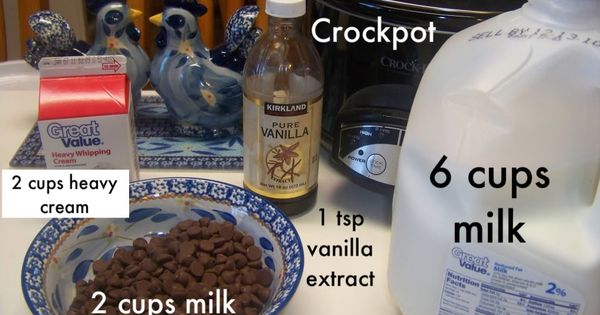 Crock pot hot chocolate. Great for a large group! (Polar Express) last