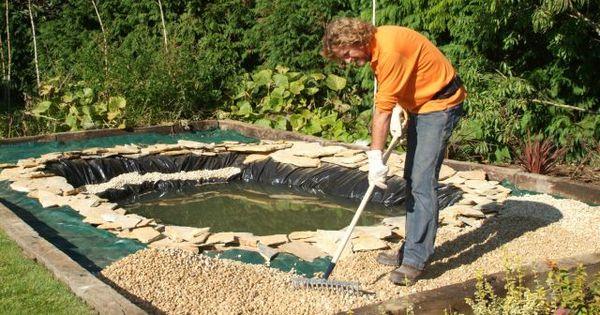 C mo hacer un estanque para el jard n paso 9 jardin - Jardines verticales paso a paso ...