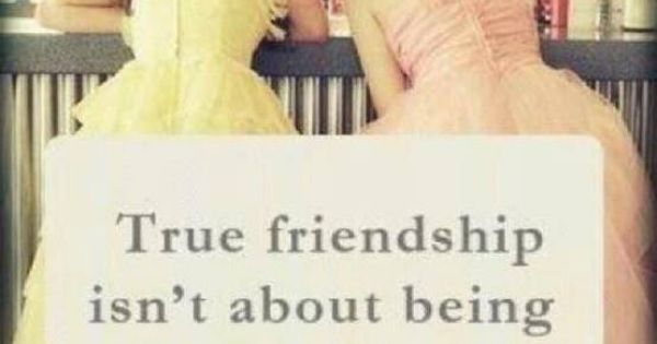 True Friendship Isn't About Being Inseperable, It's Being