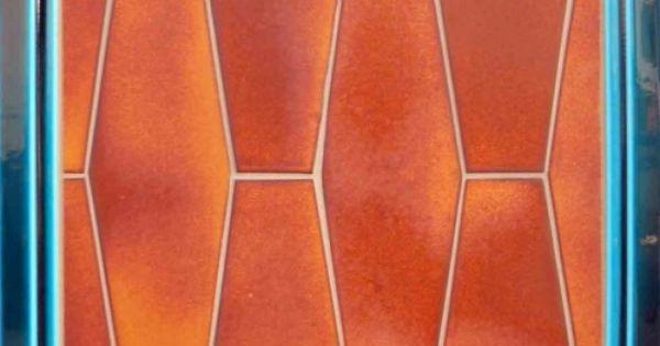 Fiery Orange Elongated Hexagon Tile From Pratt Amp Larson