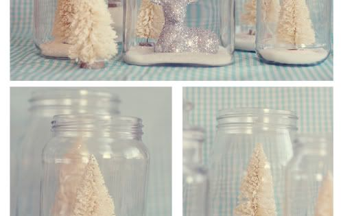 DIY christmas jars old candle jar, dollar tree trinket, epsom salt