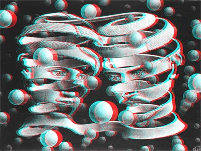 Stereoscopic 3d Effect With Anaglyph Images Escher Art Mc Escher Art Mc Escher