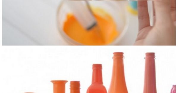 How to make easy DIY painted vases. This would be cool with