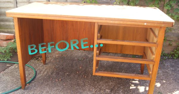 Revamp an old desk yard sale pinterest desks for Furniture yard sale