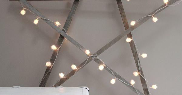 Een onwijs leuk idee voor de kerst een extra grote zelfmaak kerst ster favourite pinterest - Idee voor thuis ...