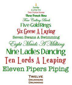 12 Days Of Christmas Christmas Lyrics Days Of Christmas Song Twelve Days Of Christmas