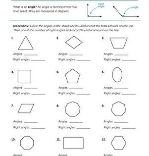 Counting Angles Worksheet Education Com Third Grade Geometry 3rd Grade Math Worksheets Third Grade Math Worksheets