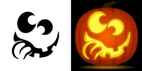 Goofy Pumpkin Carving Stencil. Free PDF Pattern To