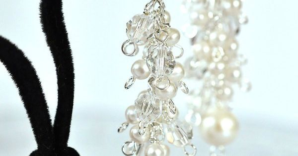This tutorial teaches how to make beautiful crystal and pearl bridal earrings. Perfect for wedding jewelry and thrifty brides! | See more about Wedding Earrings, Earrings and Pearl Earrings.