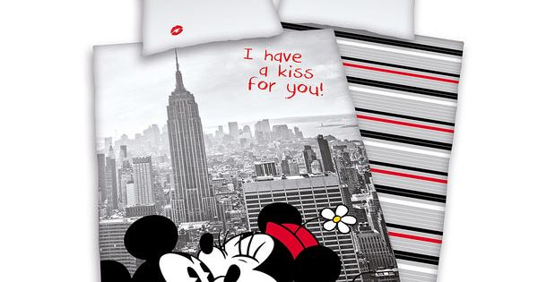 Funda n rdica minnie y mickey en nueva york disney cama for Funda nordica gatos
