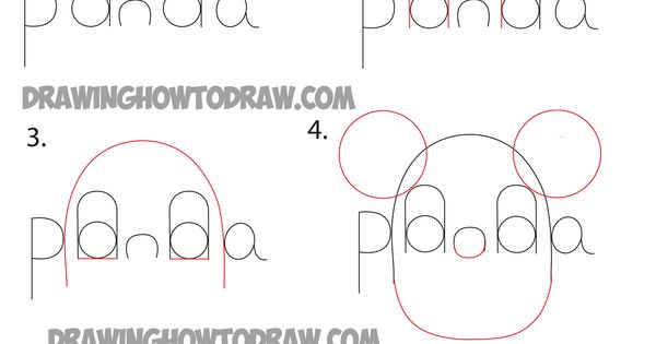 how to draw a panda step by step easy