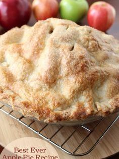 Double Pie Crust Recipe Best Ever Apple Pie Desserts Apple Pie Recipes