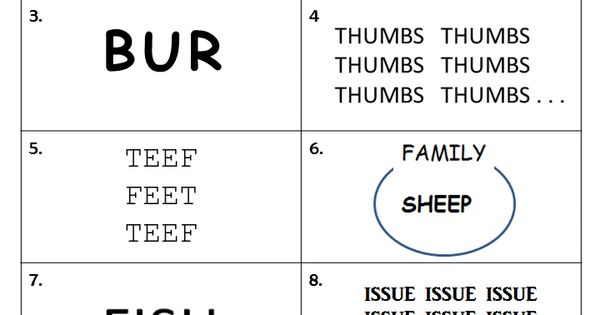 Free printable rebus worksheet from Puzzles to Print Features 10 – Rebus Worksheet
