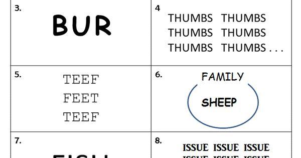 Free printable rebus worksheet from Puzzles to Print Features 10 – Rebus Worksheet