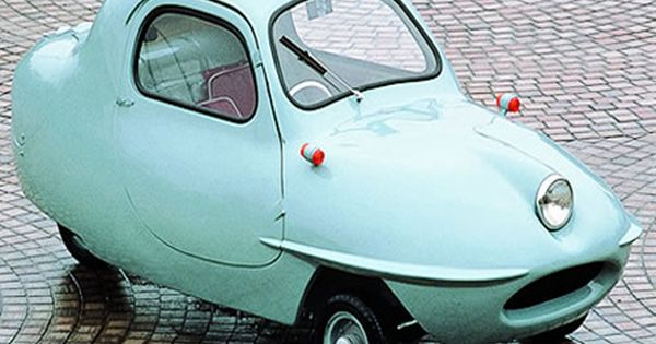Blue 1955 Fujicabin Minicar. This thing is so funny lookin