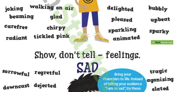 Show Don 39 T Tell Feelings Synonyms Poster Pack Teaching