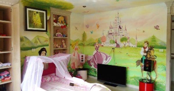 Decoracion cuarto infantil de princesas disney - Habitaciones infantiles disney ...