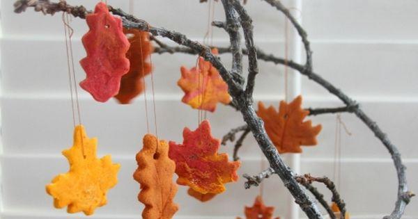 Cinnamon Salt Dough Leaf Ornaments | Theaterstücke, Salzteig und ...