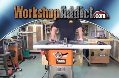 Ridgid R4512 Table Saw Folding Outfeed Table And 11 Month