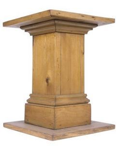Diy Wood Pedestal Hunker Wood Pedestal Wood Diy Diy Wood Projects