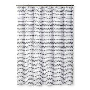 Stripe Shower Curtain Black White Project 62 Black White