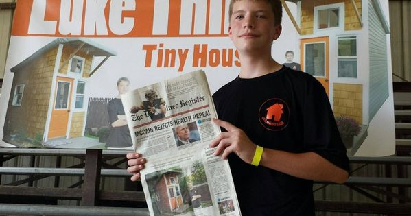 13 Year Old Luke Thill Builds Own Home For Just 1 500 13 Year
