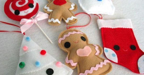 Tons of felt ornament pics!!! 50 DIY Felt Christmas Tree Ornaments |