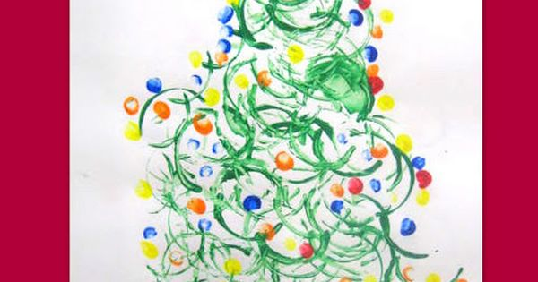 (use paper towel roll) FUN KIDS CRAFT! Christmas Tree using toilet paper