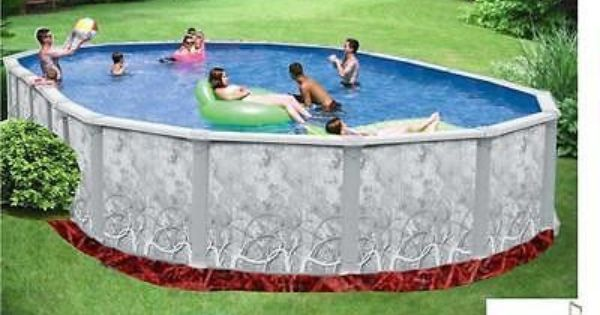 Keystone above ground oval swimming pool packages free for Above ground pool deals