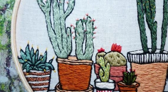 This hand stitched potted cactus garden has us wanting to