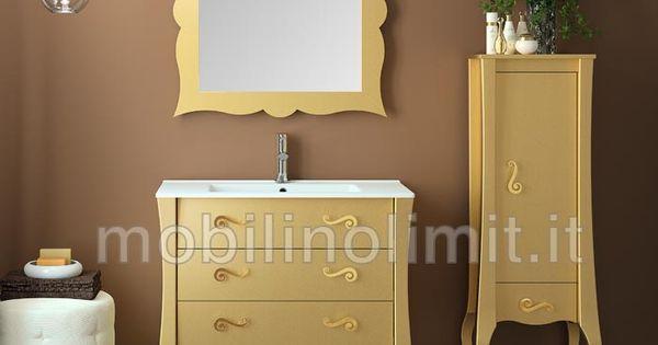 Mobile bagno oro 3 cassetti con lavabo http www - Mobili urban chic ...