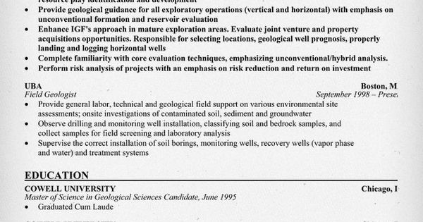 geologist resume simple resumes are the way to go