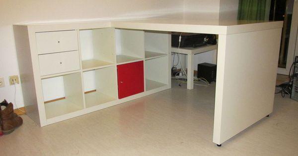 ikea expedit 8 kasten regal schreibtisch a oktober pinterest ikea expedit ikea hack and. Black Bedroom Furniture Sets. Home Design Ideas