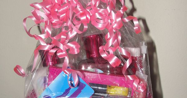 Teen bday gift basket itunes giftcard lotion candy - Gloss and raffles ...