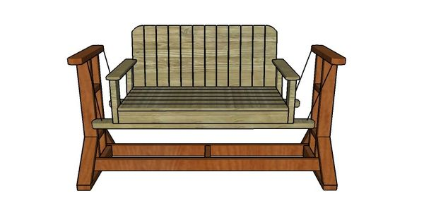 How to build a glider swing outdoor furniture plans for Bench swing frame plans