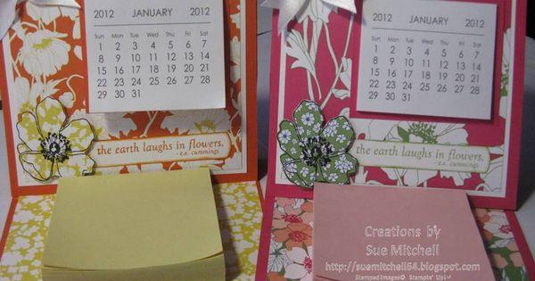Stampin Up Calendar Ideas : Stampin up australia sue mitchell summer