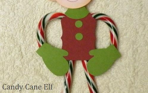 candy cane elf - cute! might be a fun craft to make