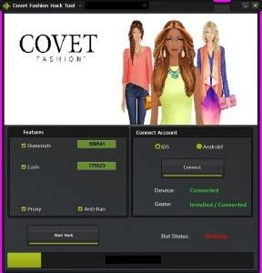 Covet Fashion Hack Tool Free Download No Survey Android
