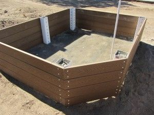 Building A Low Maintenance Raised Garden With Trex Boards Cement