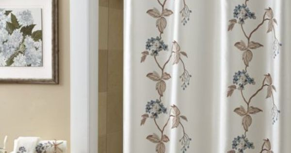 Croscill christina shower curtain embroidered with vines