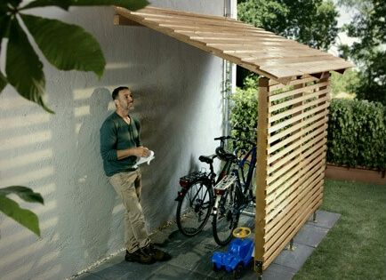 Protection Against Wind And Weather Bicycle Storage