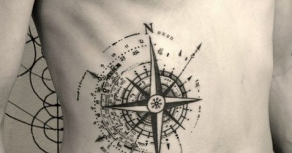 Nice unique compass tattoos design tattoos menly for Renaissance tattoo san clemente